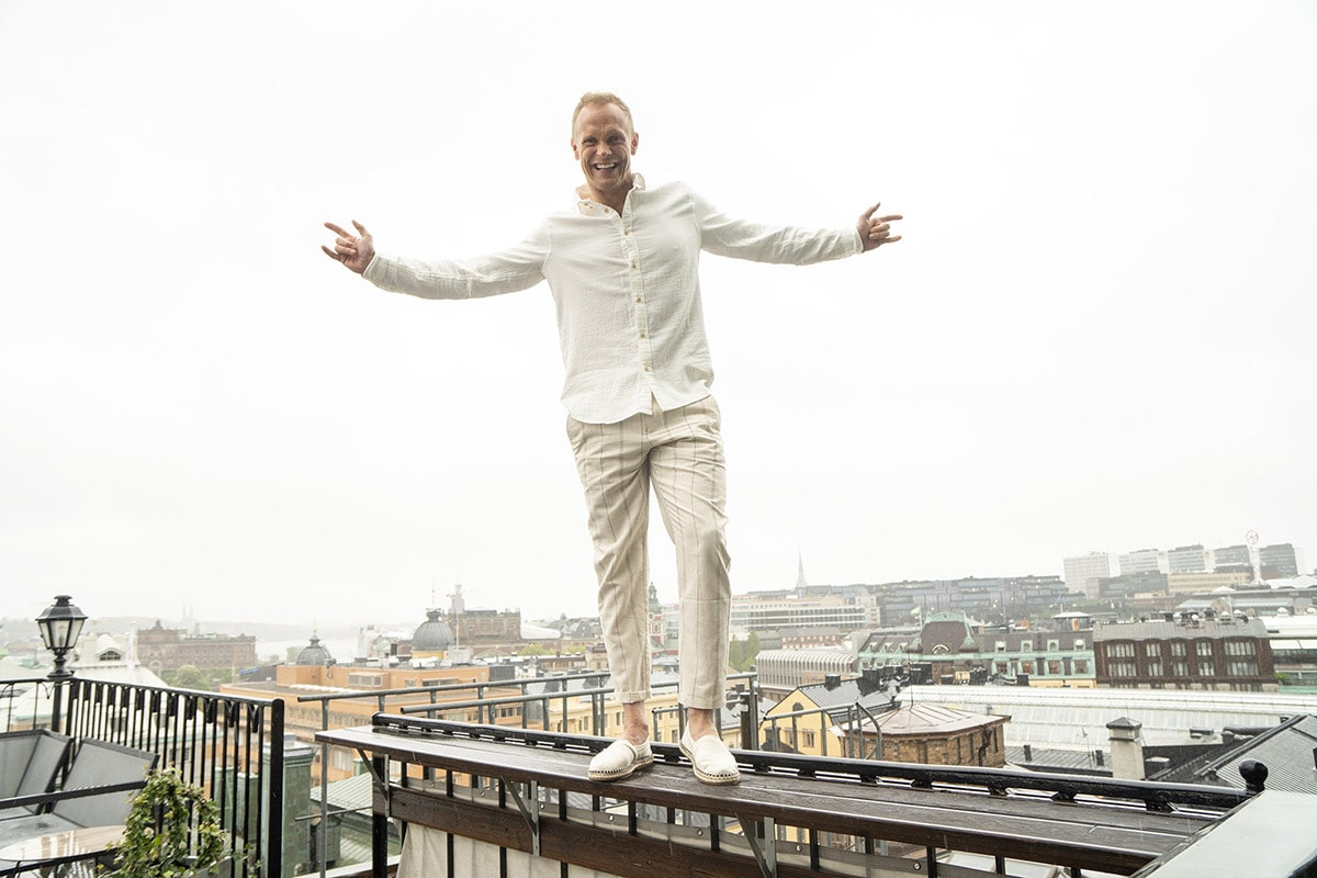 Tobias Karlsson har gjort sin hårtransplantation på Poseidonkliniken i Stockholm